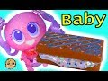 Super Cute Neonate Baby Eats Slime Sprinkle Sandwich ! Cookie Swirl C Video