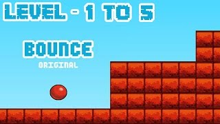 Bounce Original - Level 1 to 5 (Completing) iOS / Android Gameplay HD screenshot 1