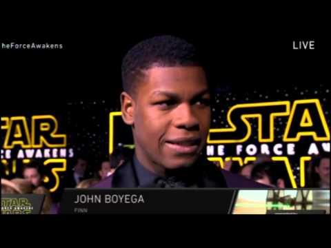 John Boyega Interview - Star Wars The Force Awakens Red Carpet