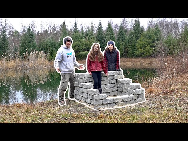 FIRST PROJECT COMPLETE!!! Building a FIRE Pit at the 500+ Acre Off Grid Property