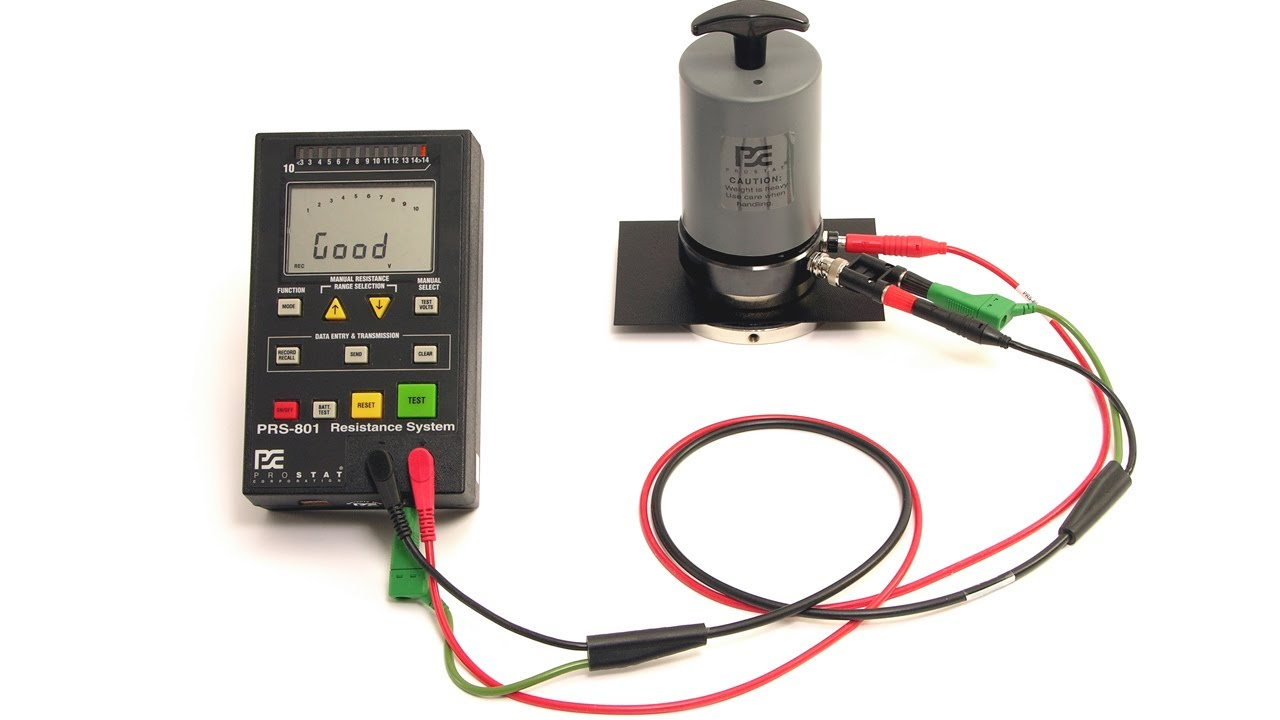 Resistance Tester In Plastic Molding : Surface resistance measurements per ansi esd s youtube