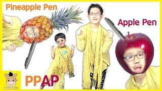 PPAP Song (Pen Pineapple Apple Pen) Kid Dance Song ペンパイナッポーアッポーペン | MariAndKids Toys