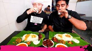 Banana Leaf INDIAN FOOD Tour - Spicy Seafood & Egg Biryani in Kannur | Kerala, India