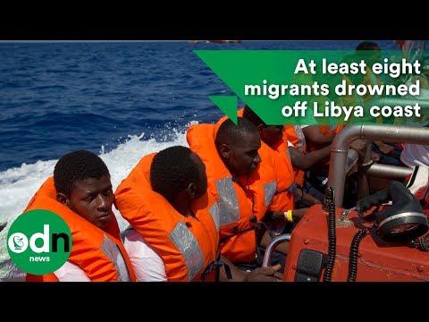 At least eight migrants drowned off Libya coast