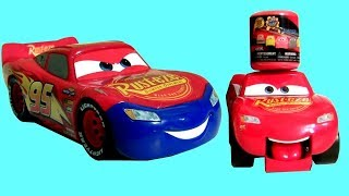 Surprise Eggs!! Toys Squishy Cars 3 Transforming Mcqueen