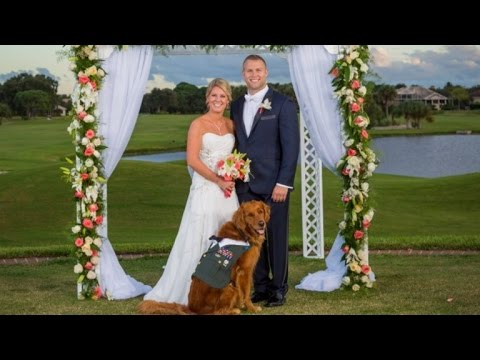 Wounded Army Vet Has Therapy Dog Serve as Best Man for Wedding