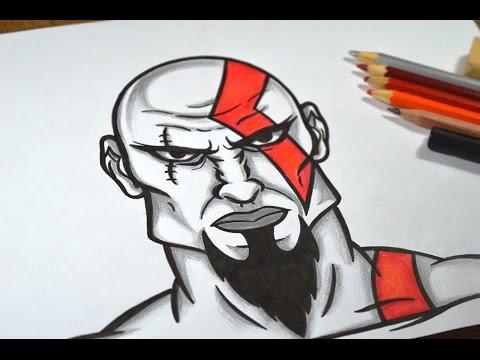 Como Desenhar Kratos God Of War Passo A Passo Youtube