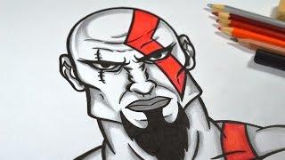 Como Desenhar Kratos (God of War) passo a passo