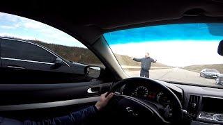 "Infiniti G37s  vs  Mercedes W 212 ( 5.5 ) .. "" Нашла Коса на Камень ""  ..."