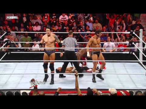 Raw - Air Boom vs. Cody Rhodes & Wade Barrett