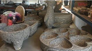 Artesano jalisciense transforma piedras de basalto en molcajetes