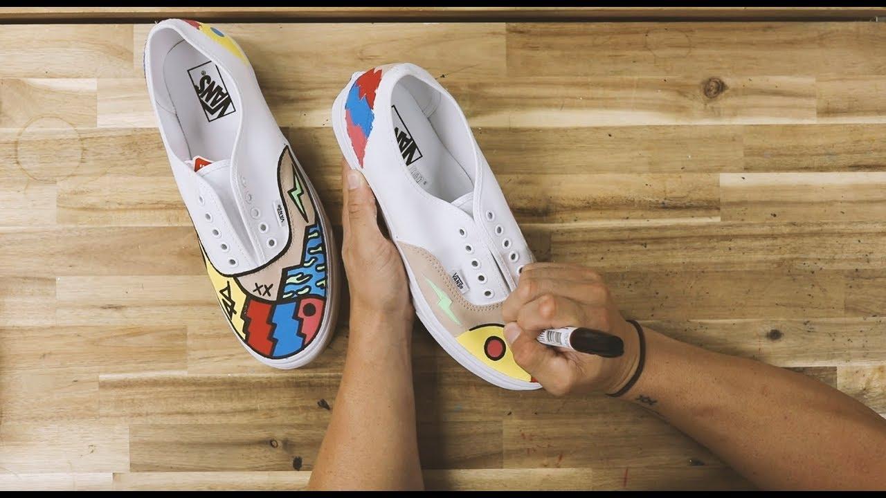 Painting New Custom Vans \u0026 Things - YouTube