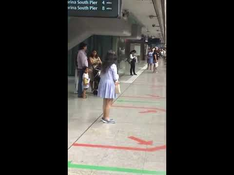 Singaporean woman scolding 'Lanjiao' on MRT