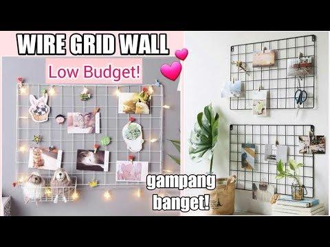 Cara Membuat Wire Grid Wall dengan Bahan yang Mudah di Dapat || Low Budget!