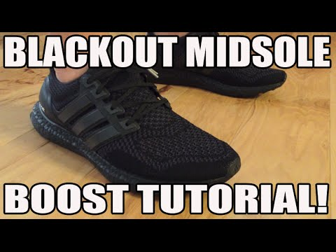 How To black out adidas Ultra Boost Mid Sole Tutorial Guide
