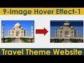 9/15: Image Hover Effect-1 | Create Responsive Website Using HTML and CSS3 Only