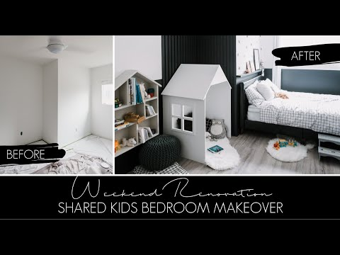 Modern Kids Bedroom Makeover [in Just ONE Weekend!]