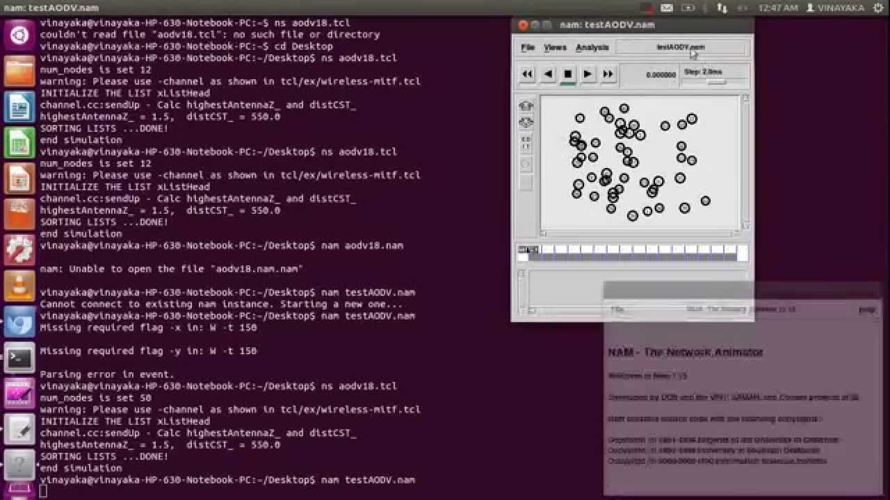 AODV Simulation in NS19 (Complete Tutorial)