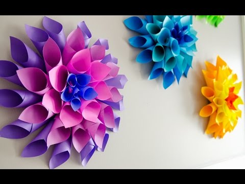 """♥♥ """"How to Make a Paper Dahlia"""" 