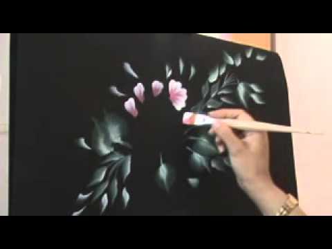 Pintar flores con acr licos con con pintura decorativa de for Pinturas para pintar