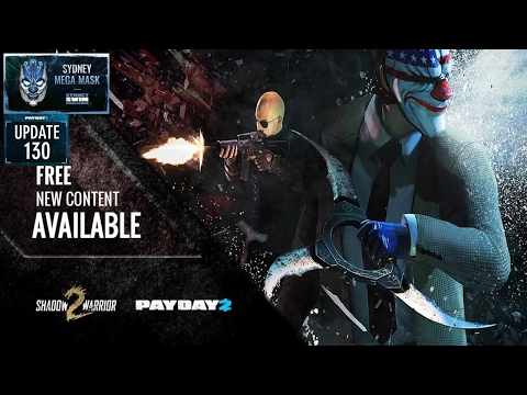 Payday 2 Talk: Update 130,Shadow Warrior & Mega Mask: