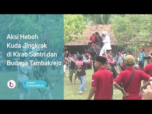 Aksi Heboh Kuda Jingkrak di Kirab Santri dan Budaya Tambakrejo