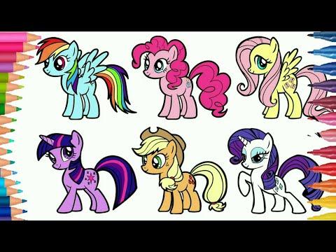Belajar Menggambar Kuda Poni Dan Mewarnai Gambar Little Pony Youtube