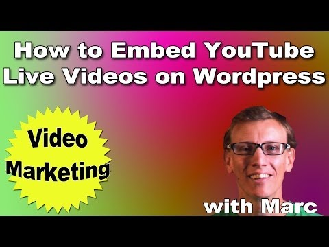 How to Embed YouTube Live Videos on Your Wordpress Blog