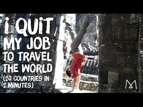 Quit My Job to Travel the World | 20 Countries in 2 Minutes