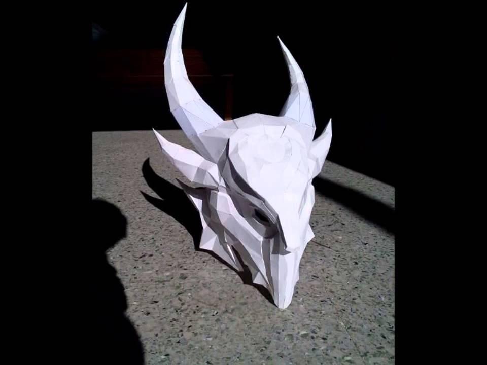 How I made my Skyrim Daedric Helmet
