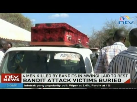 Four men from Mwingi shot dead by bandits laid to rest