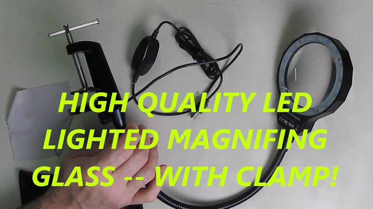 BEST LED Lighted Magnifying (REAL Glass) KOTTO Clamp, Flexible Handle, 300% Magnifying Power REVIEW