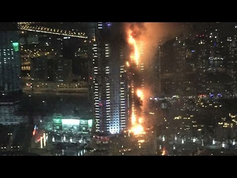 Dubai highrise hotel catches fire