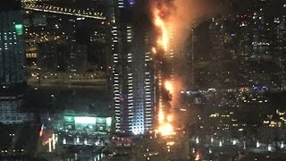Dubai highrise hotel catches fire