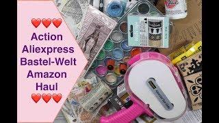 Haul Action Aliexpress Bastel-Welt Amazon Haul Washi Tape Bullet Journal Aquarellfarben