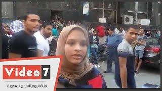 بالفيديو.. طلاب الثانوية العامة بالإسكندرية ينظمون وقفة احتجاجية أمام التعليم العالى
