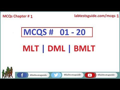 01 - 20 MCQ's and their Answers  For Laboratory Technicians and Technologists