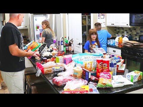 SCHOOL SNACKS GROCERY HAUL // CLEANING MOM