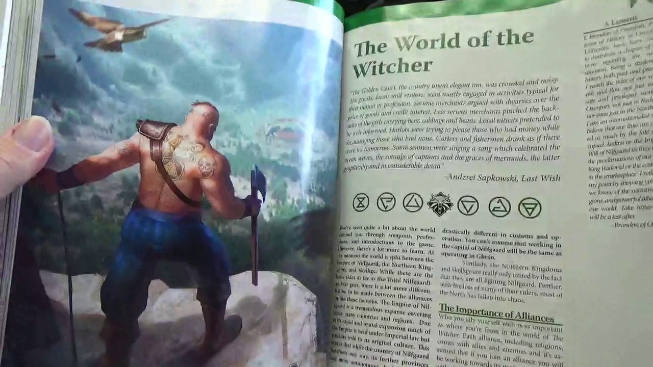 Jafo unboxes first look at the witcher rpg - YouTube