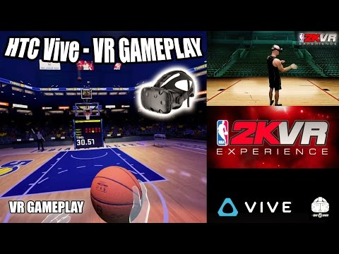 NBA2K VR EXPERIENCE GAMEPLAY ON HTC VIVE - NBA Basketball VR game with intense arcade style!