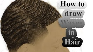 How to draw hair waves