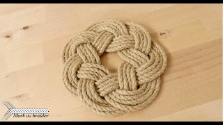 Round rope mat- rope hot pad