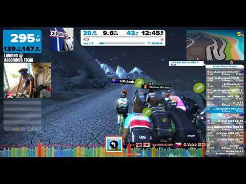 Zwift - KISS 100km Race, 8x Volcano Flat - dropped on last lap