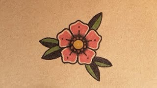 How to Draw an Old School Flower Tattoo by thebrokenpuppet