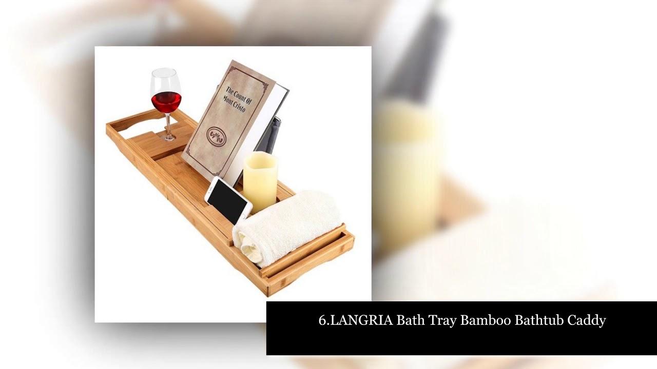 Top 10 Best Bathtub Trays - YouTube