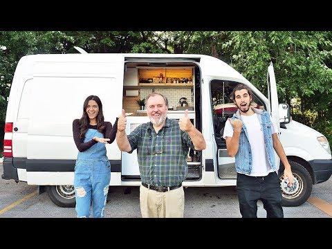 VAN TOUR | Solo 65 Year Old Moves Into DIY Sprinter Van Conversion