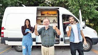 VAN TOUR | solo 65 year old moves into DIY sprinter van conversion