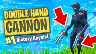 DOUBLE HAND CANNON STRATEGY in Fortnite Battle Royale