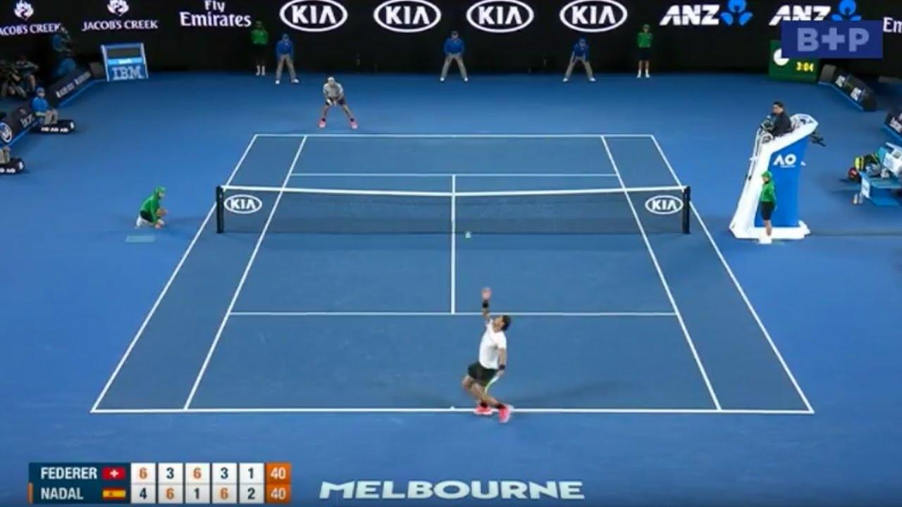 federer v nadal australian open 2017 - final  5th  set in full with special commentary