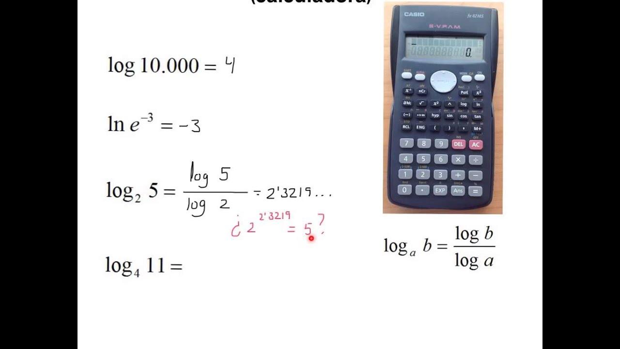 Calculo de logaritmos (calculadora) - YouTube